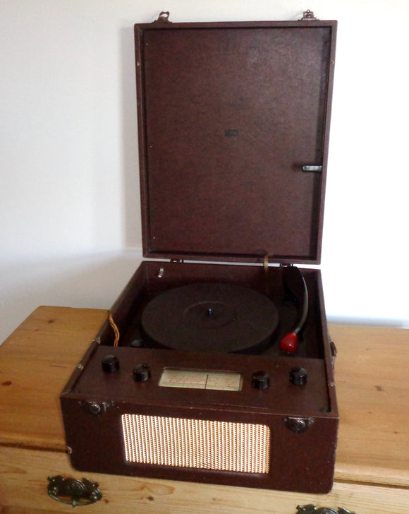 1952 Portable Decca Portrola Combined MW/LW Radio And Record Player