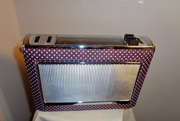 Purple Polka Dot Portable Bush Radio Model VTR 330