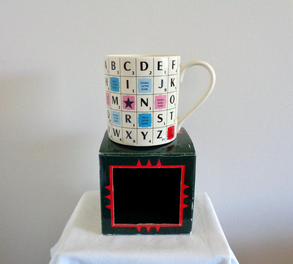 2013 Wild & Wolf Scrabble Alphabet Tile Mug In Its Original Box