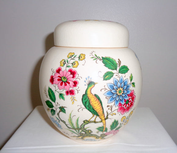 Vintage Small Sadler Pottery Bird Of Paradise Ginger Jar
