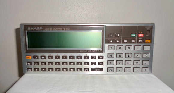 1986 SHARP Pocket Computer Model PC136 In Its Original Box With Manual