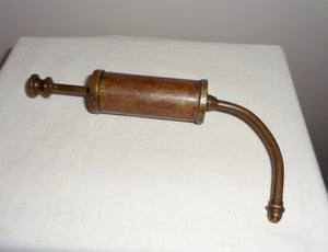Miniature Vintage Brass Pump Grease Gun With Curved Applicator