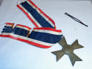 1939 WW2 KVK German War Merit Cross Second Class Medal