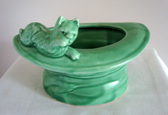 1930s SylvaC Model 165 'Cat On Top Hat' Posy Vase