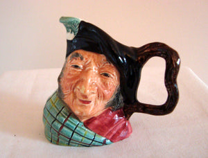 Small Vintage Hand Painted Kelsboro Ware Auld Mac Character Jug