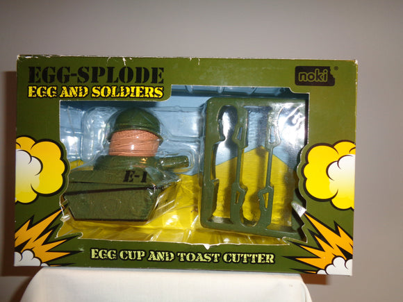 Novelty Tank Egg Cup and Toast Soldiers