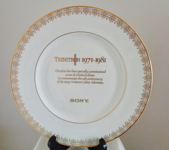 Sony Trinitron Television 10th Anniversary Collector's Plate By Royal Doulton