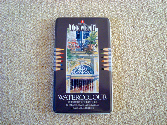 Brand New Old Stock Derwent 12 Watercolour Pencils 32881