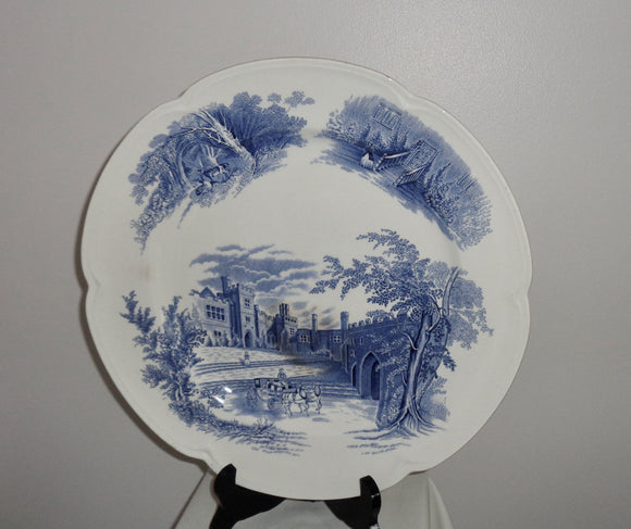 1930s Haddon Hall Serving Platter By Johnson Bros Pottery
