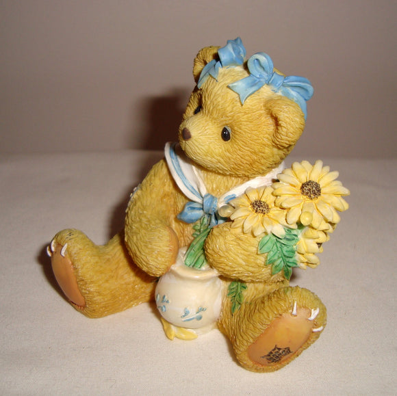 1996 Enesco Cherished Teddy Susan 'Love Stems From Our Friendship' Figurine 202894