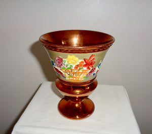 Antique Copper Lustreware Urn Vase