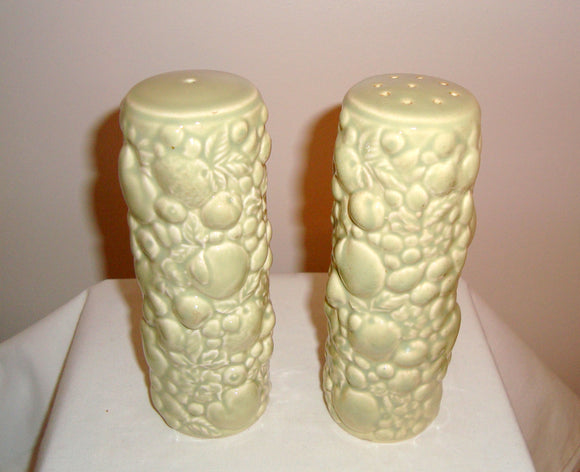 Vintage Carlton Ware Pale Green Salt and Pepper Pots