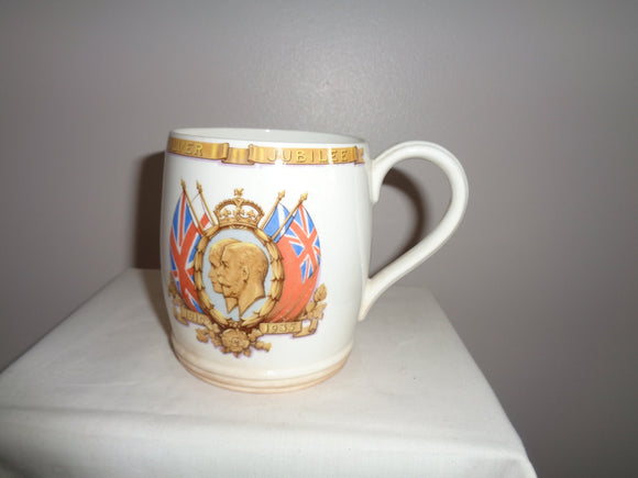 1935 George V Silver Jubilee Mug By Taylor & Kent Pottery