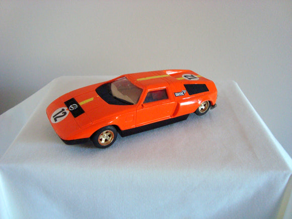 Orange Vintage 1970s Scalextric C44 Mercedes C-111