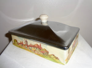 Febland, Italy, Lustreware Seated Art Pottery Clown Desk Tidy