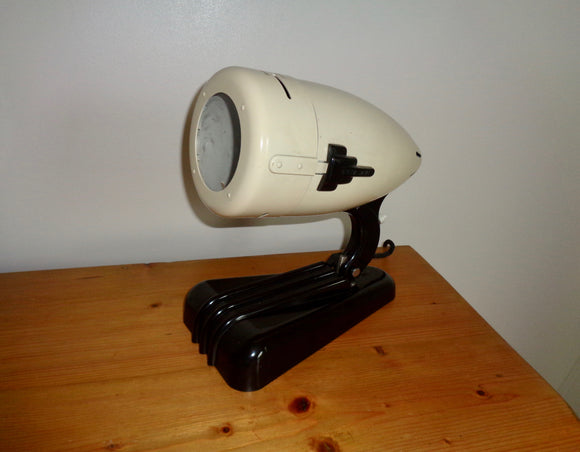 1950s Hanau Bakelite UV Tanning Lamp Repurposed As a Table Lamp