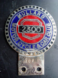 Vintage Car Badge Mullard 2300 Motorcycle & Car Club