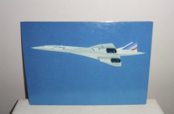 1979 Concorde Picture Postcard Of An Air France Concorde in Flight