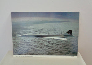 Vintage Concorde Postcard Featuring Concorde In Flight Taken From A Tornado