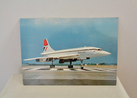 Vintage Concorde Postcard Featuring Concorde On The Tarmac by Beringer & Pampaluchi