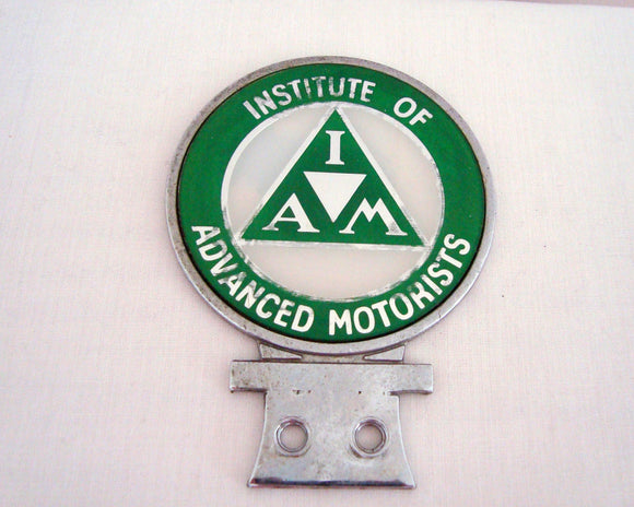 Vintage Institute Of Advanced Motorists Green Motorcyclist Badge