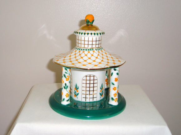 1990s Coalport China Orange Blossom Cottage