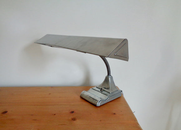 Vintage Fluorescent Flexarm Desk Lamp By The Art Speciality Co. Chicago