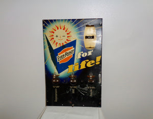 1950s Ever Ready Batteries For Longer Life Advertising Metal Lithographed Tin Sign