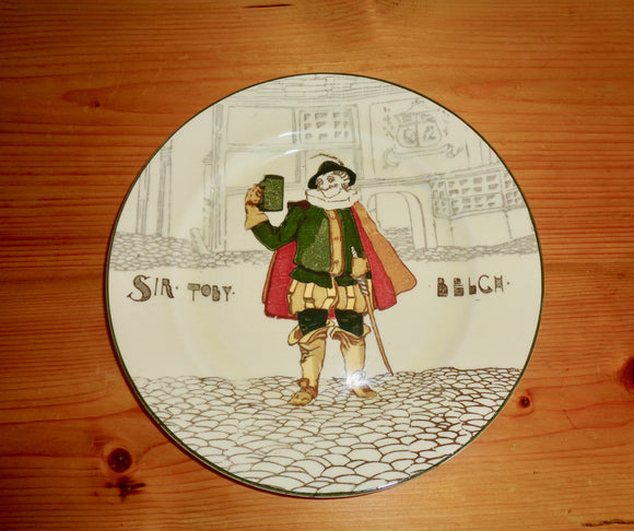 1930s Royal Doulton Collector's Plate Of Shakespeare's Sir Toby Belch D2495 3-39