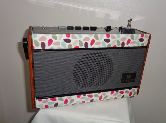 Vintage R701 Roberts Radio Refurbished With Orla Kiely Style Fabric