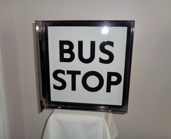 Enamel Aldershot & District Traction Co. Ltd 1960s Bus Stop Sign