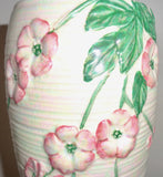1950s Maling Art Pottery Vase Model Blossom 6584 In Pink Lustre