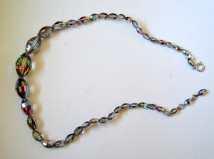 Vintage Iridescent Glass bead necklace
