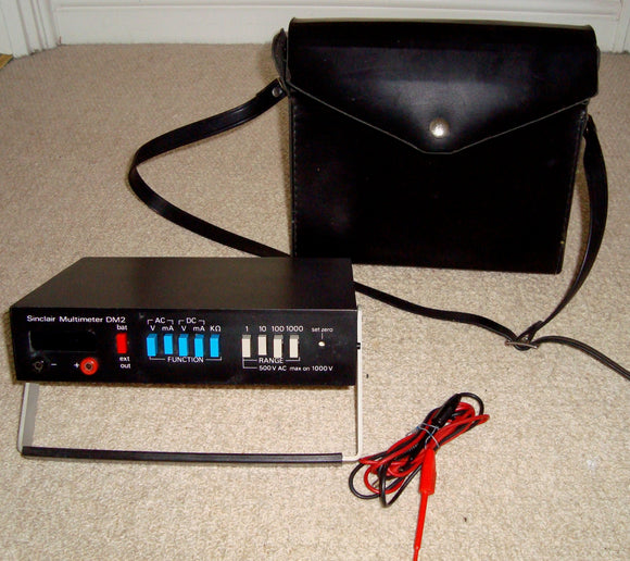 1970s Sinclair Radionics DM2 Multimeter