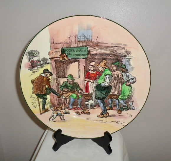 1950s Royal Doulton Collectible Plate D6302 Roger Solem EL Cobler