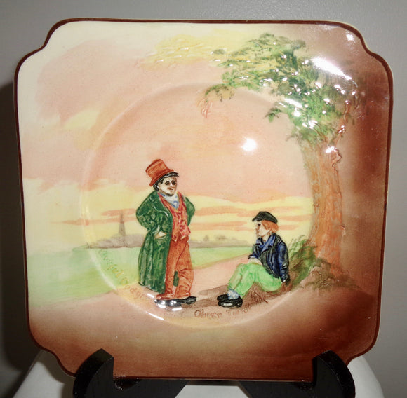 Royal Doulton Oliver Twist Square 6 Inch Side Plate D5833