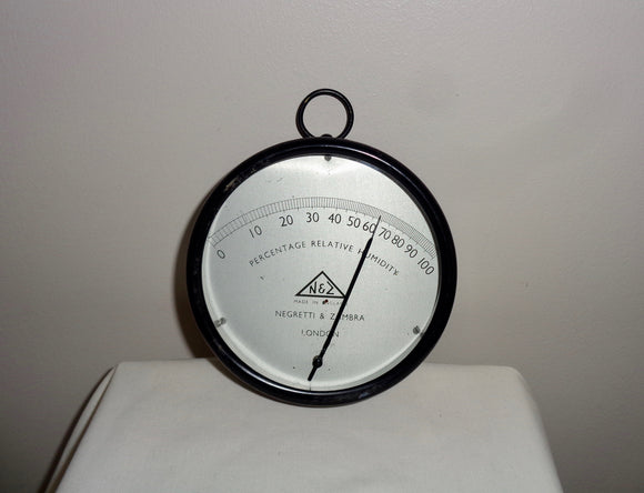 Vintage Negretti And Zambra Relative Humidity Meter. Wall Hanging