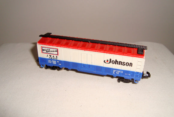 Vintage N-Gauge Johnson Wax Container Wagon