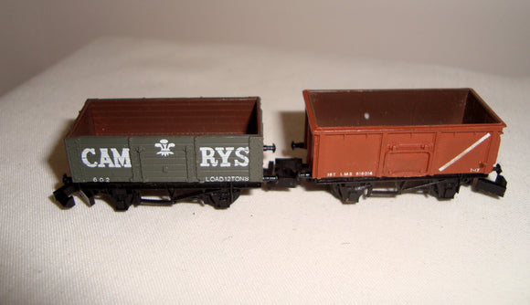Two Vintage Graham Farish N-Gauge Plank Wagons