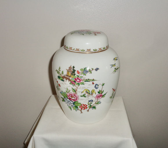 Pagoda Crown Staffordshire China 1950s Ginger Jar