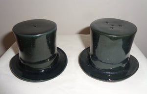 1970s Top Hat Novelty Salt & Pepper Pots Approved By The London Design Council