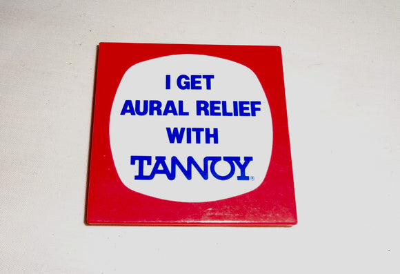 1970s Tannoy Public Address System Pin Badge