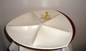 1950s Carlton Ware Party Serving Dish 4493 Mimosa