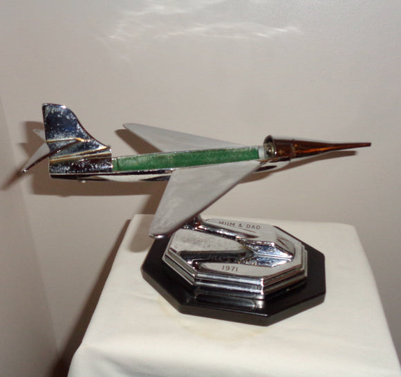 1950s Gala Sonic Aircraft Chrome Desk Model