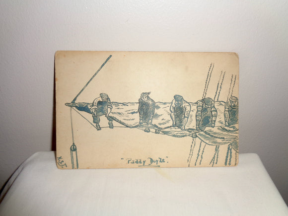 WW1 Paddy Doyle Sea Shanty Sailing Boat Postcard