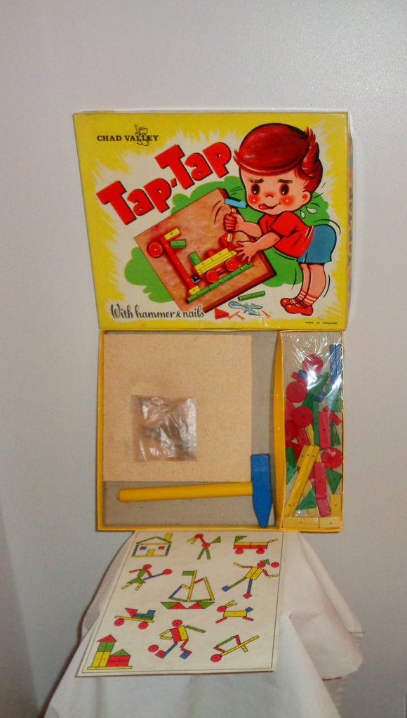Vintage Tap-Tap Wooden Toy Picture Maker