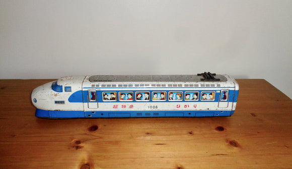 Ichiko Japanese Litho Tin plate Friction Bullet Train Toy