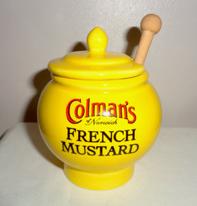Vintage Wade Colman's French Mustard Lidded Pot and spoon
