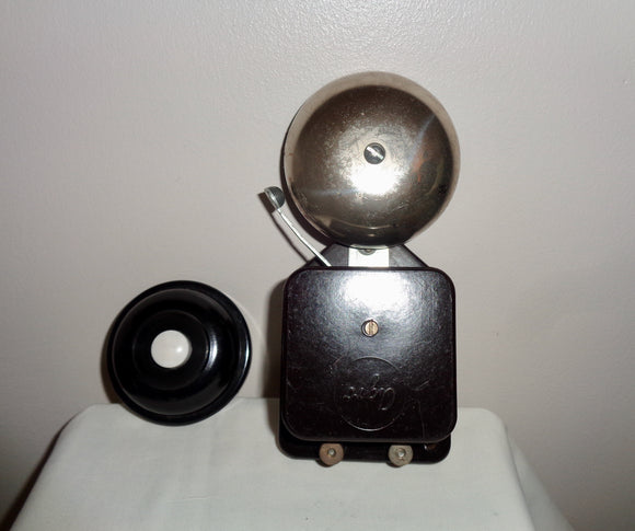 1930s Agro Working Electric Butler Alarm Internal Door Bell & Agro Bell Push