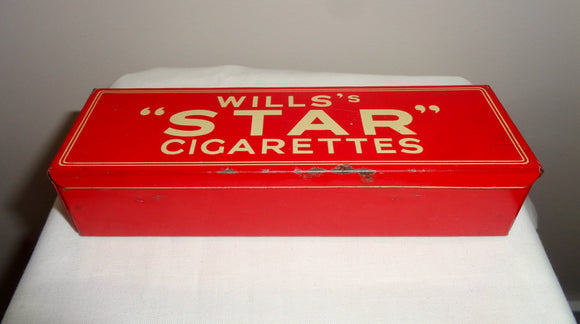 Wills's Star Cigarettes Empire Size Tin Boxed Set of 28 Dominoes In Black Crystalate